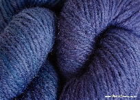 BFL superwash wool dyed with brazilwood natural dye extract & overdyed with indigo | Wild Colours natural dyes