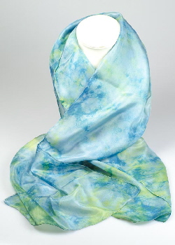 Buy Silk Scarves hand-dyed with natural dyes