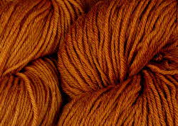 BFL superwash wool dyed with cutch natural dye extract