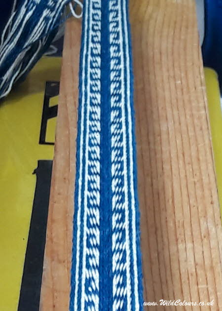 Tablet weaving with indigo